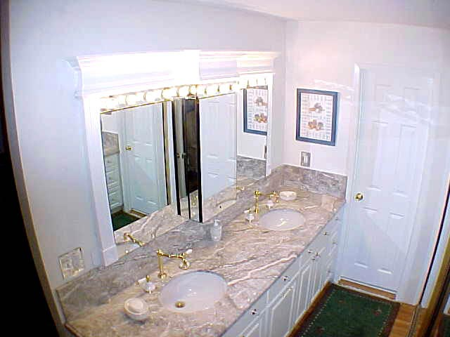 Marble Counter Bathroom Remodel in Marin