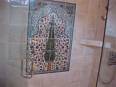 Mosaic Tile Shower Remodel Marin